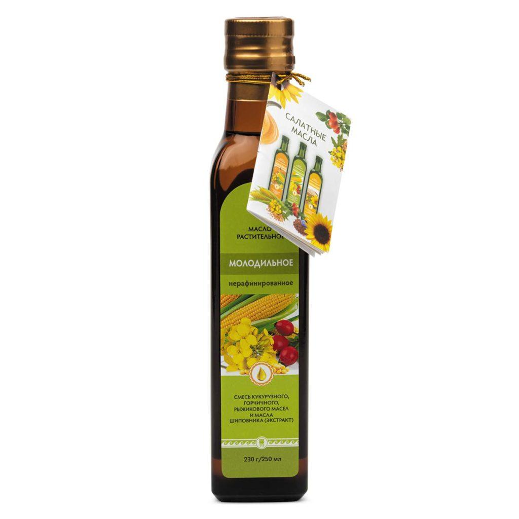 Масло «Молодильное», 250 мл, стеклянная бутылочка