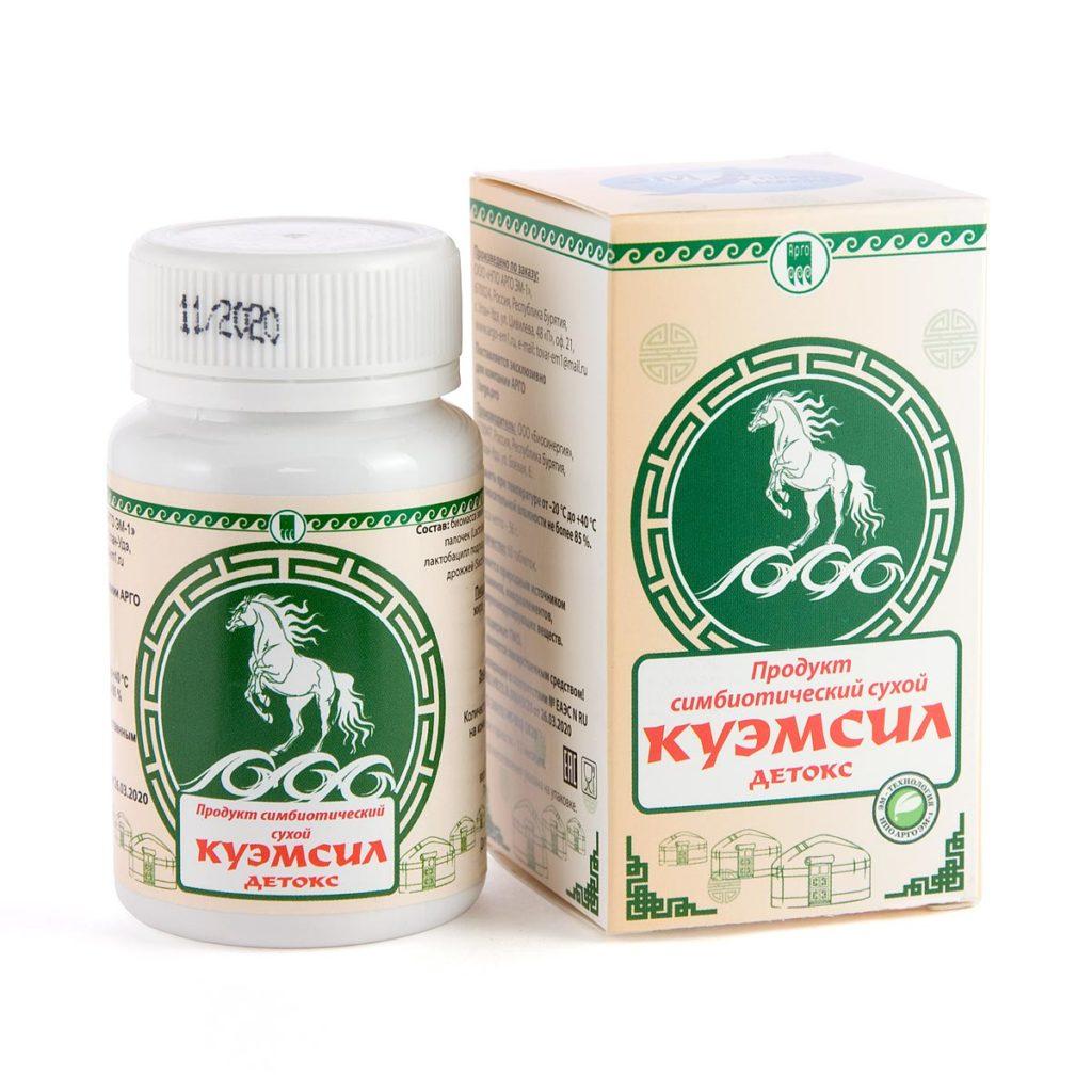 Продукт симбиотический «КуЭМсил Детокс»,таблетки, 60 шт