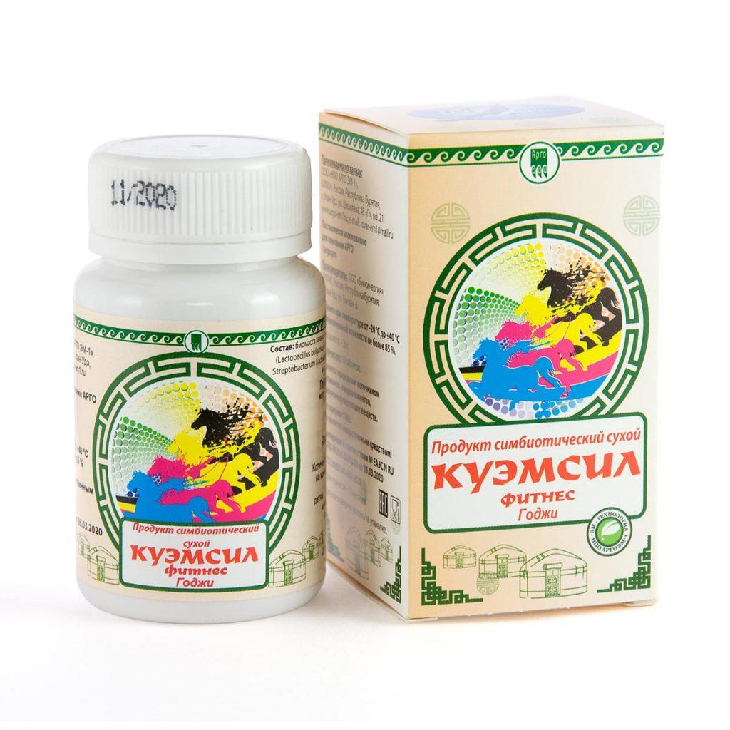 Продукт симбиотический «КуЭМсил Фитнесс Годжи», таблетки, 60 шт.