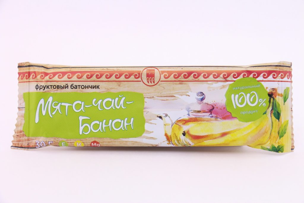 Батончик фруктовый «Банан-чай-мята», 30 г