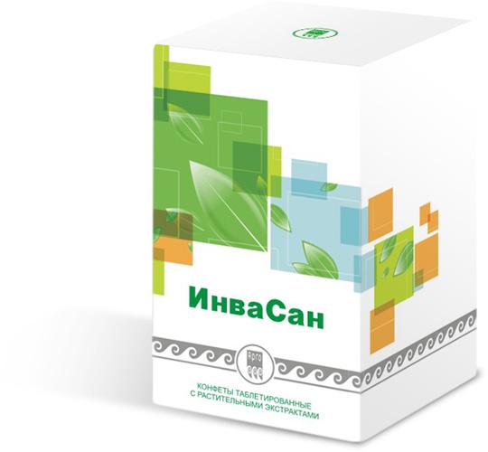 Конфеты таблетированные с растительными экстрактами «ИнваСан», 100 шт