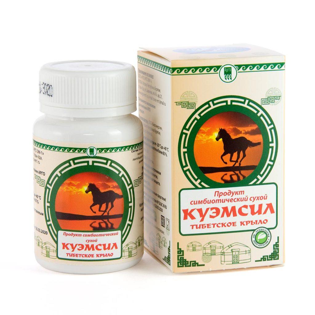 Продукт симбиотический «КуЭМсил Тибетское крыло», таблетки, 60 шт.