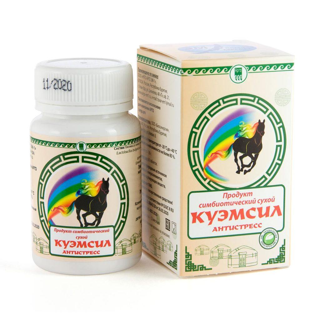 Продукт симбиотический «КуЭМсил Антистресс», таблетки, 60 шт