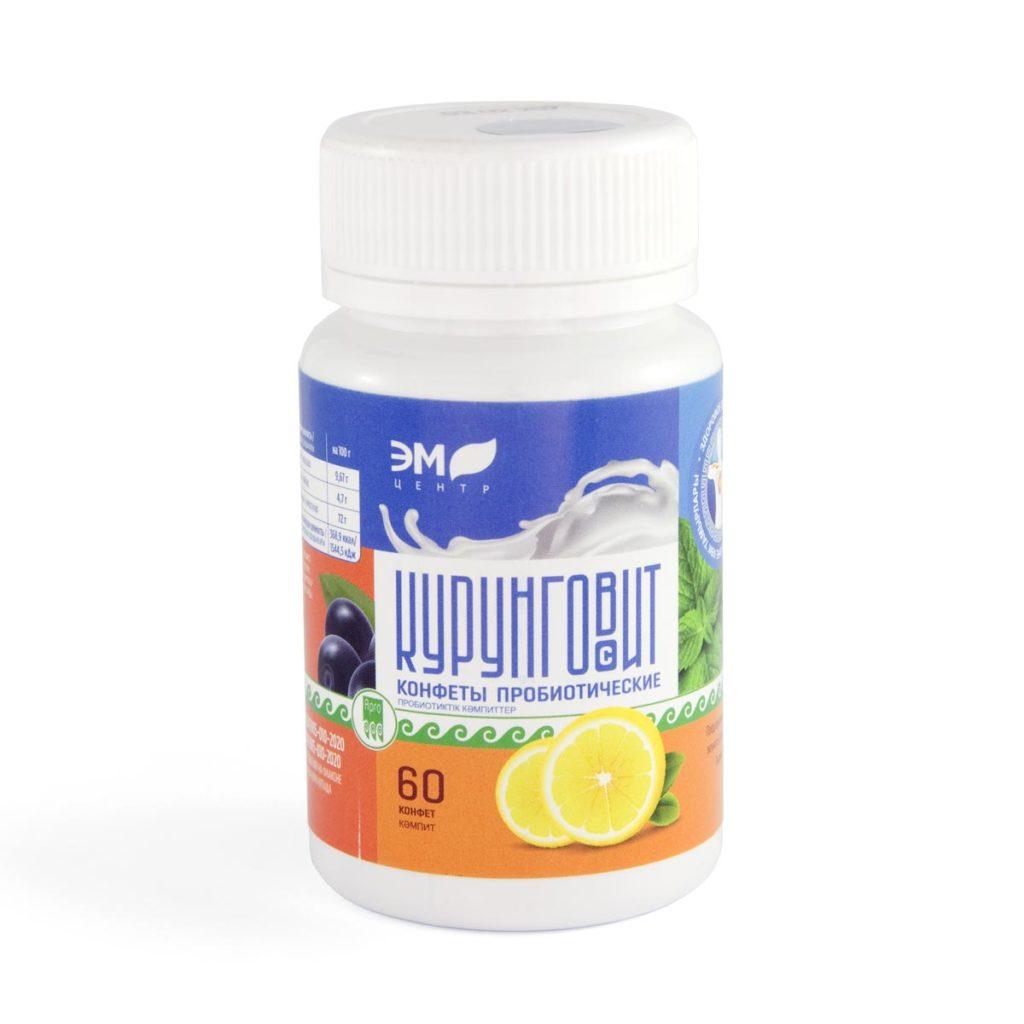 Конфеты пробиотические «Курунговит-С», таблетки, 60 шт