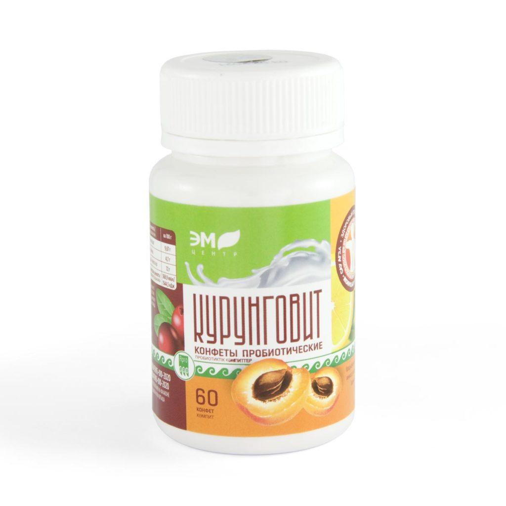 Конфеты пробиотические «Курунговит», таблетки, 60 шт