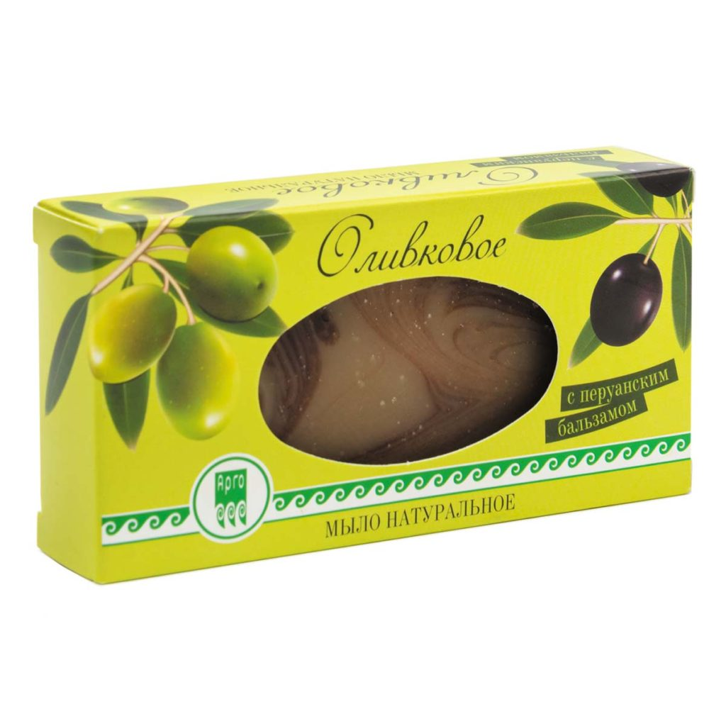 Мыло оливковое с перуанским бальзамом, 100 г