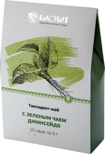 Токсидонт-май с зеленым чаем, 10 саше по 5 г